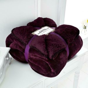 Flannel Sherpa Throw – Soft and Comfortable
