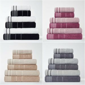 Dalby Embroidered Natural Cotton Towels